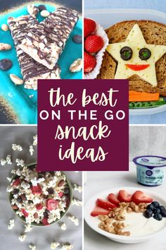 This list of homemade snack ideas is perfect for kids and adults who need something quick and easy on the go! Most are great for road trips too!