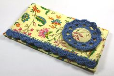 Checkbook cover Floral Country French fabric blue by chezviolette follow me : pinterest.com/cocoflower