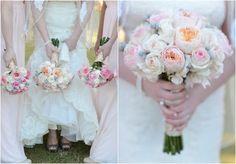 Elegant Texas Country Wedding Bridesmaids and Brides Bouquet