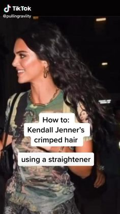 How To: Effortless Beach Waves/Crimped Hair Using A Straightener Cejas Kendall Jenner, Kendall Jenner Makeup, Kendall Jenner Hair Color, Kendall Jenner Blonde Hair, Kendall Jenner Hairstyles, Kendall Jenner Haircut, Kendall Jenner Video, Kendall Jenner Outfits, Short Grunge Hair