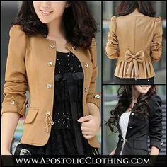Modest clothing - women's bow knot blazer  - Apostolic Clothing