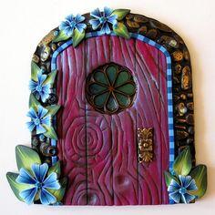 Childrens Tooth Fairy Door Handmade Wall Art by Claybykim on Etsy, $20.00