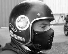Masque máscara EPSYLON marrón/motocicleta moto / por BOKENMASK