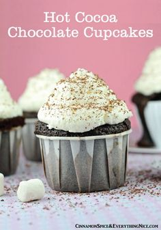 A fun play on one of the winter season's most favorite wintertime treats! Hot cocoa brought to life in a cupcake.