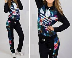 Woman's adidas floral tracksuit
