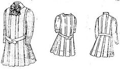 4 year old girl's box pleated dress with a high or dutch collar, Butterick- 1909