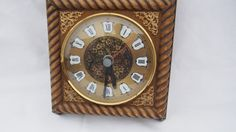 Vintage Hettich W 41 Wall Clock 70ers by AustriaAntiqueStore