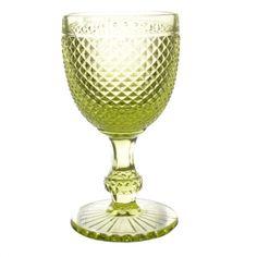 Jogo de 6 taças bico de jaca verde