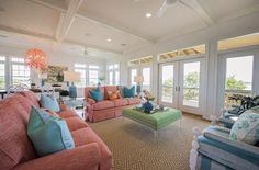 Nothing says summer fun more than bright bursts of color! Wilmington, North Carolina-based interior designer Hooper Patterson is the talent behind this super-fun vacation home on Topsail Island bui…
