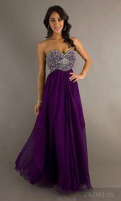Cute Orange Sleeveless Chiffon Empire Evening Dresses Sale zkdress24757
