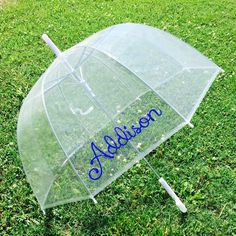 Personalized Umbrella Clear Dome **Perfect for Easter** Simply flip the umbrella upside down, add some Easter grass, & goodies!