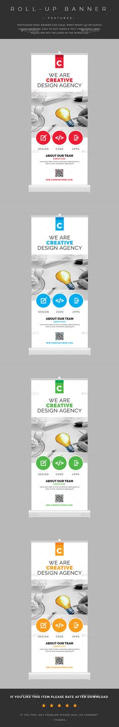 Corporate Roll-Up Banner   Rollup banner, Banner template and Banners