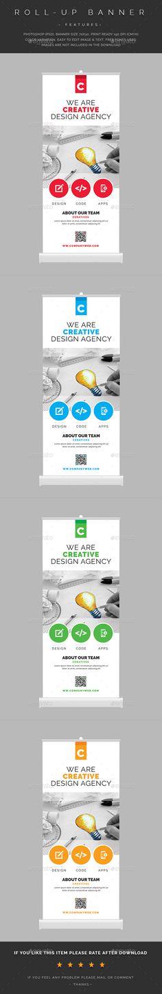 Roll-Up Banner Template PSD