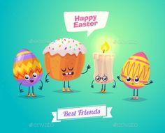 Set of Easter Characters
