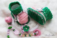 #Schnullerketten - #Fuchs mit #Schmetterlingen -#Geschenke-#Sparset _045 - ein Designerstück von Strickparadies-Shop bei DaWanda