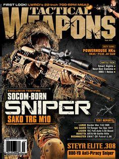 Cover shot for Tactical Weapons Magazine. The SAKO TRG M10 SOCOM Sniper Rifle. http://www.sako.fi