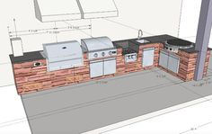 Outdoor Kitchen | The Outdoor Spaces | Pinterest | Kitchens, Kitchen Design  And Backyard