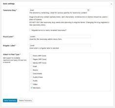 Add Taxonomy WordPress Plugin