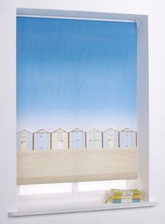 Beach Hut 4ft Roller Blind - Multicoloured. | eBay