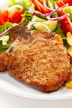 Easy Pan Fried Pork Chops Recipe - Only 7 Ingredients and ready in 35 Minutes