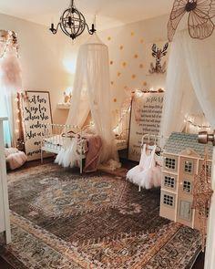 Classic Tulle Canopy Little Girls Room Canopy Classic Tulle Big Girl Bedrooms, Little Girl Rooms, Girls Bedroom Canopy, Girls Bedroom Wallpaper, Baby Room Decor, Nursery Room, Fairy Nursery, Whimsical Nursery, Baby Playroom