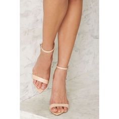 Nasty Gal Take a Hint Stiletto Heel (5.955 RUB) ❤ liked on Polyvore featuring shoes, pumps, beige, pointed toe stilettos, pointy-toe pumps, pointy toe shoes, pointed-toe pumps and beige pumps