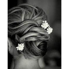 Coiffure mariée perles