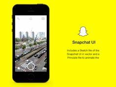 Snapchat UI and Principle Animation