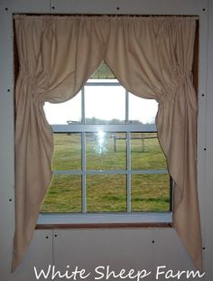 White Sheep Farm: Primitive Prairie Curtain Tutorial ... My way ...