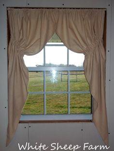 White Sheep Farm: Primitive Prairie Curtain Tutorial ... My way ...
