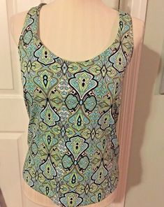 983cfed6c7325 Athleta Tankini Swim Top Halter Size 38B Paisley Underwire Bra Slimming  Stretch  Athleta  TankiniTop