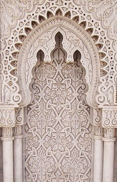 An arabesque at the Mausoleum of Mohammed V in Morocco.