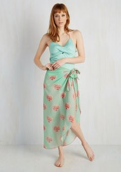Time Will Shell Sarong. After hours at the beach, your conviction that this mint wrap is charming will be prevailingly strong! #green #modcloth