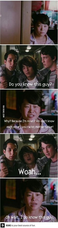Because I'm Asian? lol 21 and Over was a funny movie Tv Quotes, Movie Quotes, Funny Movies, Good Movies, Funny Comments, Just For Laughs, Funny Pictures, Funny Pics, The Funny
