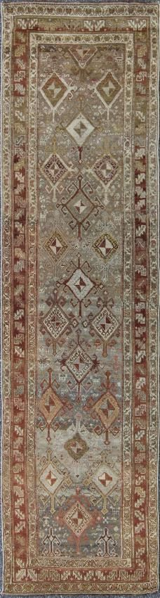 "KEIVAN WOVEN ARTS,   Type :Malayer Origin :Iran  Size : 3'1""x11'8""  Circa :1920"