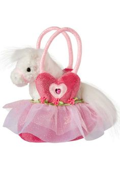 """7"""" wide (18 cm) Douglas Toys makes beautiful high-fashion pet saks purses and little girl pocket books that you will find nowhere else.  Ballerina Pet Sak by Douglas. Home & Gifts - Gifts - Gifts by Occasion - Baby & Kids Oregon"""
