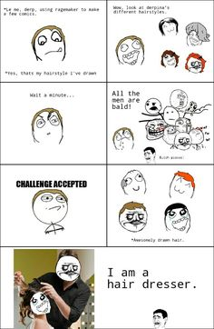 rage comics Hair