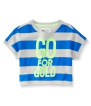 Kids' Go For Gold Cropped Sweatshirt Tee PS From Aéropostale