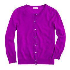 J.Crew - Collection featherweight cashmere cardigan- Jersey not your thing- try a purple cashmere cardigan.  Perfect to show ravens spirit yet still stay very stylish....add a monogram and make it your own.  LOVE