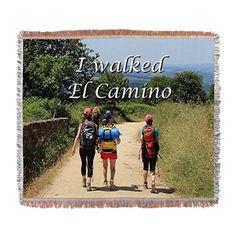 I walked El Camino, Spain Woven Blanket on CafePress.com