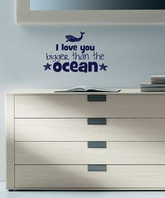 Navy 'Bigger Than the Ocean' Wall Quote | Daily deals for moms, babies and kids