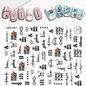 Nail Stickers The English Alphabet Patterns Transfer Decals Nail Decoration – Nail STYLES English Alphabet, Types Of Nails, Nail Decorations, 3d Nails, Nail Stickers, Decals, Nail Patterns, Ebay, Tags