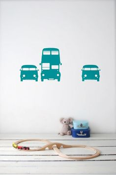 Rush Hour Wall Sticker - Turquoise