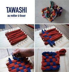 tuto tawashi métier à tisser astuce écolo vaisselle - blog déco - clemaroundthecorner Blog Deco, Diy And Crafts, Couture, Plastic Wrap, Home Cleaning, Diy Room Decor, Home Made, Tableware, Bricolage