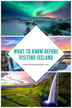 Planning a trip to Iceland? Here are some important things to know before visiting Iceland.#Iceland #Reykjavik #Seljalandsfoss #Gulfoss #IcelandWaterfalls Iceland Travel Tips, Europe Travel Tips, European Travel, Travel Destinations, Iceland Waterfalls, See The Northern Lights, Backpacking Europe, Where To Go, Travel Photos