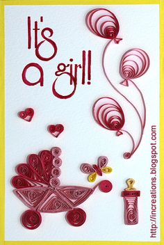 Its a girl! Quilling by Innas Creations, via Flickr