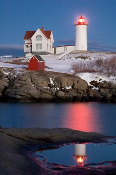 Bubble Lighthouse in York,  Maine