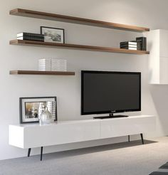 Manly freestanding entertainment unit 1660 - high gloss white living room t Home Living Room, Living Room Decor, Tv Living Rooms, Dining Room, Tv On Wall Ideas Living Room, Living Room Ideas On A Budget, Bedroom Decor, Floating Entertainment Unit, Floating Tv Unit