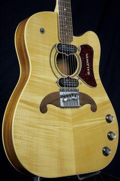 Vintage Baldwin Burns Virginian electric/acoustic. A guitar with a mustache!