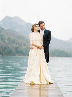 Beautiful and romantic lakeside wedding inspiration from Hotel Schloss Fuschl by Tony Gigov Lakeside Wedding, Wedding Inspiration, Wedding Ideas, Austria, Magnolia, Castle, Romantic, Wedding Dresses, Beautiful